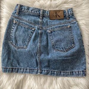 Vintage Calvin Klein High Waisted Denim Skirt